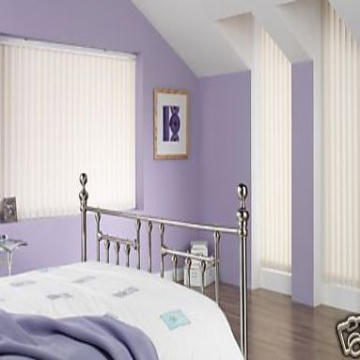 Made To Measure Vertical Blinds In Pvc Blackout Fabric In Samba Frost Just Blinds